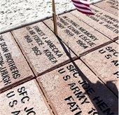 bricks at the Mesquite Veterans Memorial