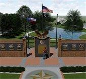 Veterans memorial rendering