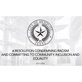 resolution condemning racism