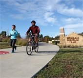 biker and jogger on Mesquite Heritage Trail