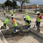 crew works on Maylee Road