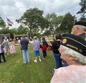community members at Mesquite Memorial service