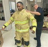 firefighter in bunker gear