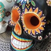 Painted sugar skull from Day of the Dead festival