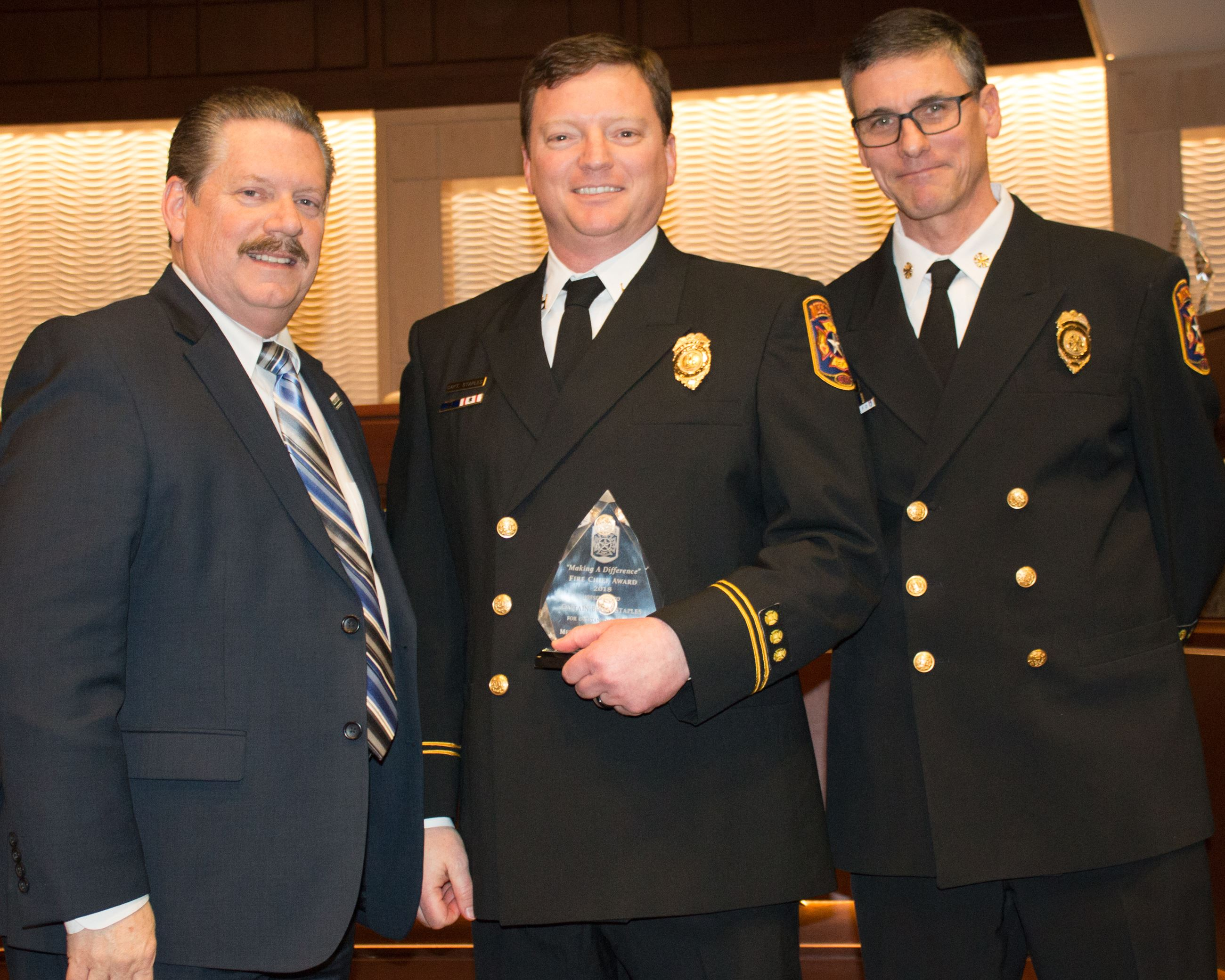 2018 Fire Chiefs Award - Capt Brian Staples