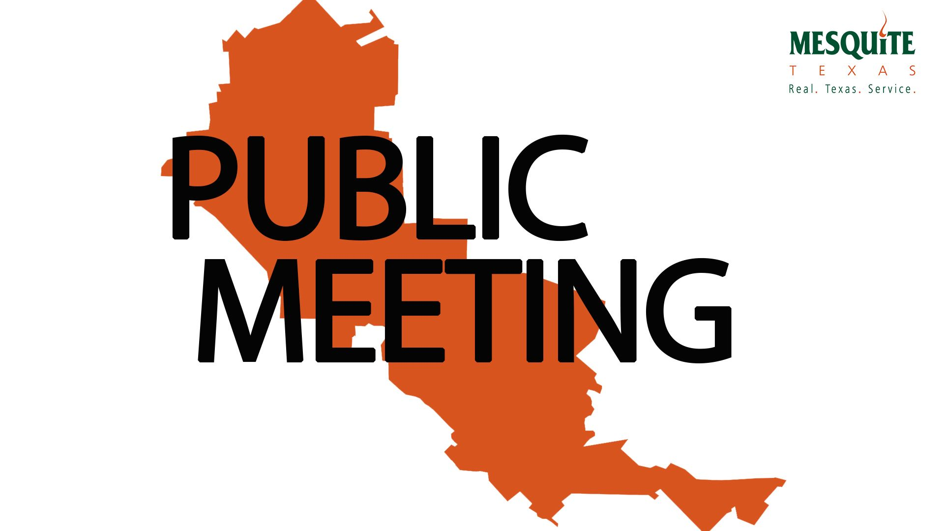Public Meeting - orange map