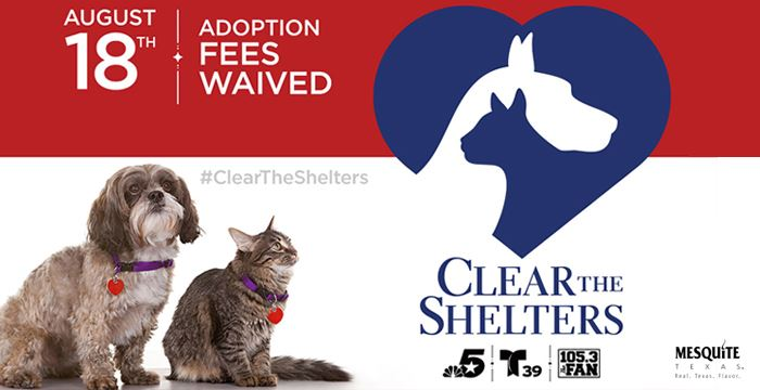 Clear the Shelters Day is August 18