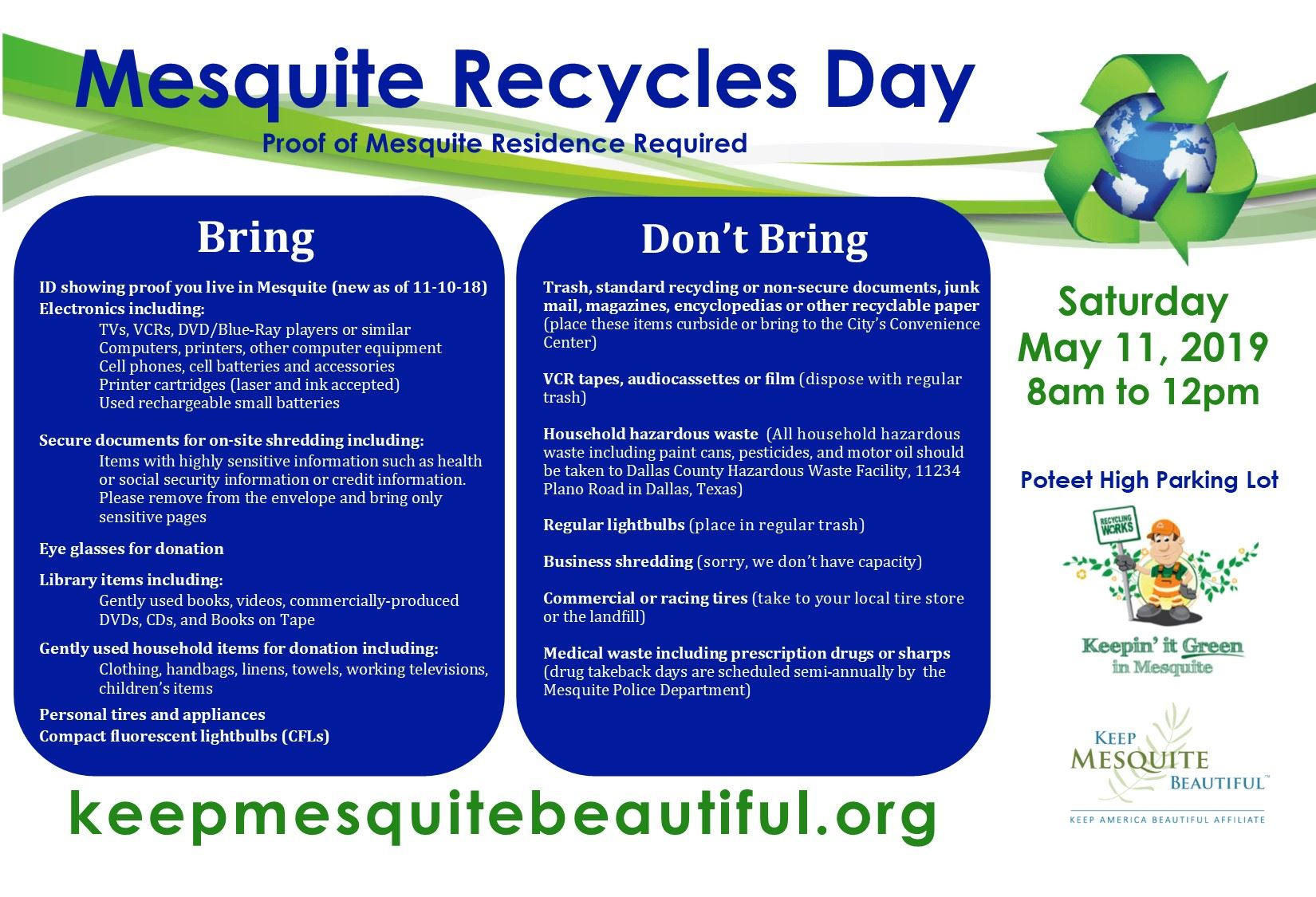 recycles day items accepted