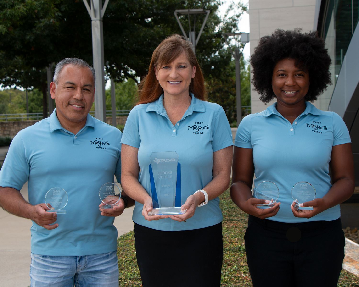 2019 CVB Awards - Sales Coord Alberto Rivera - Mgr Jessica McClellan - Marketing Coord Amber Patters