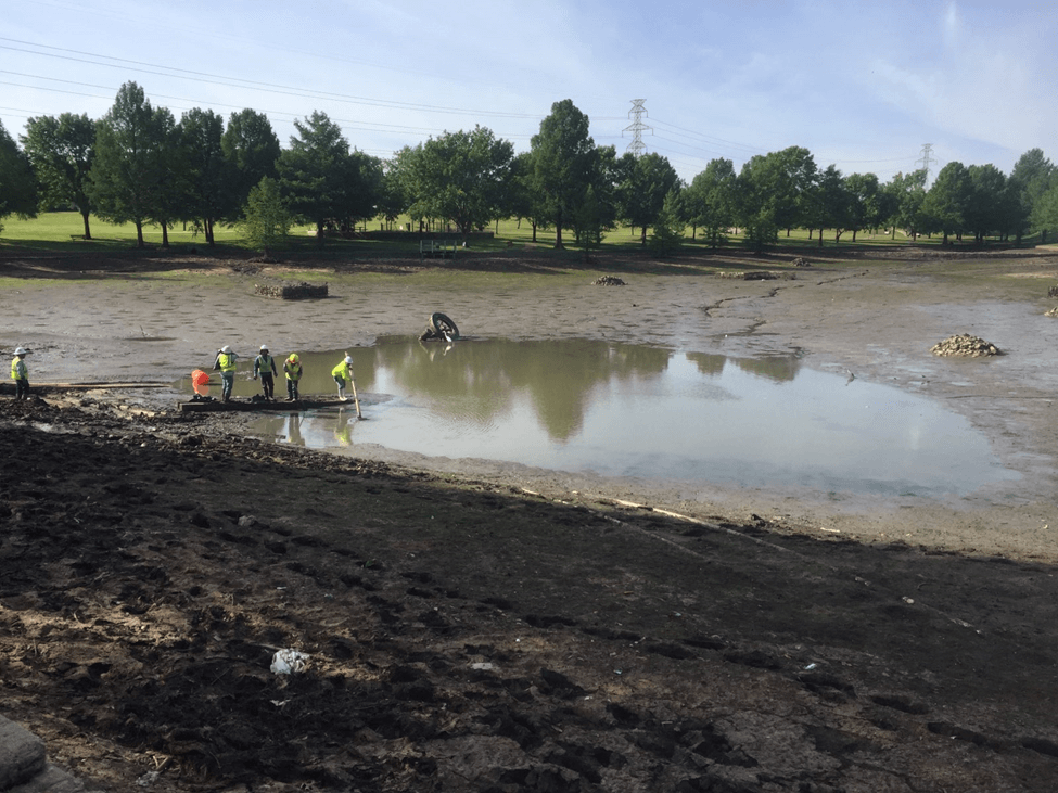 excavation work starts at palos Verdes lake