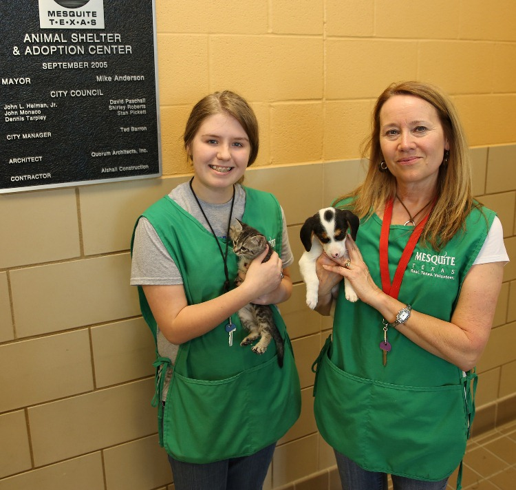 Animal Shelter volunteers