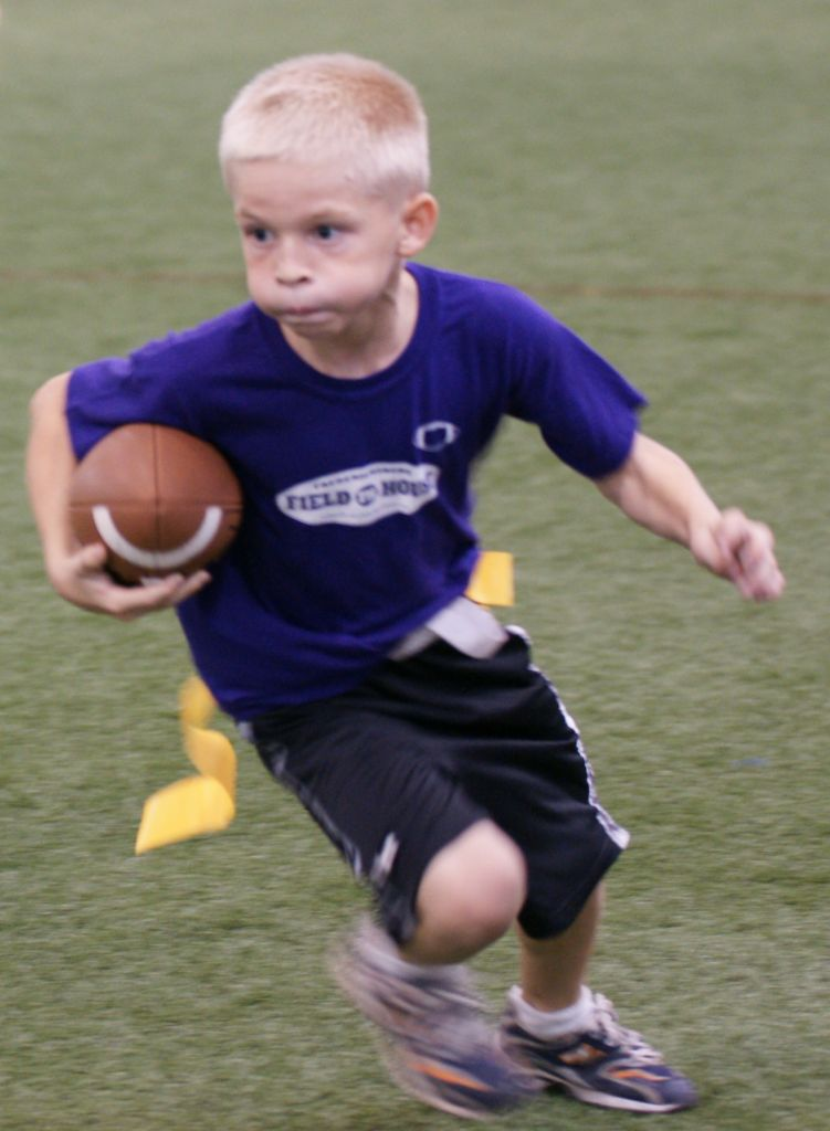 flag football youth player