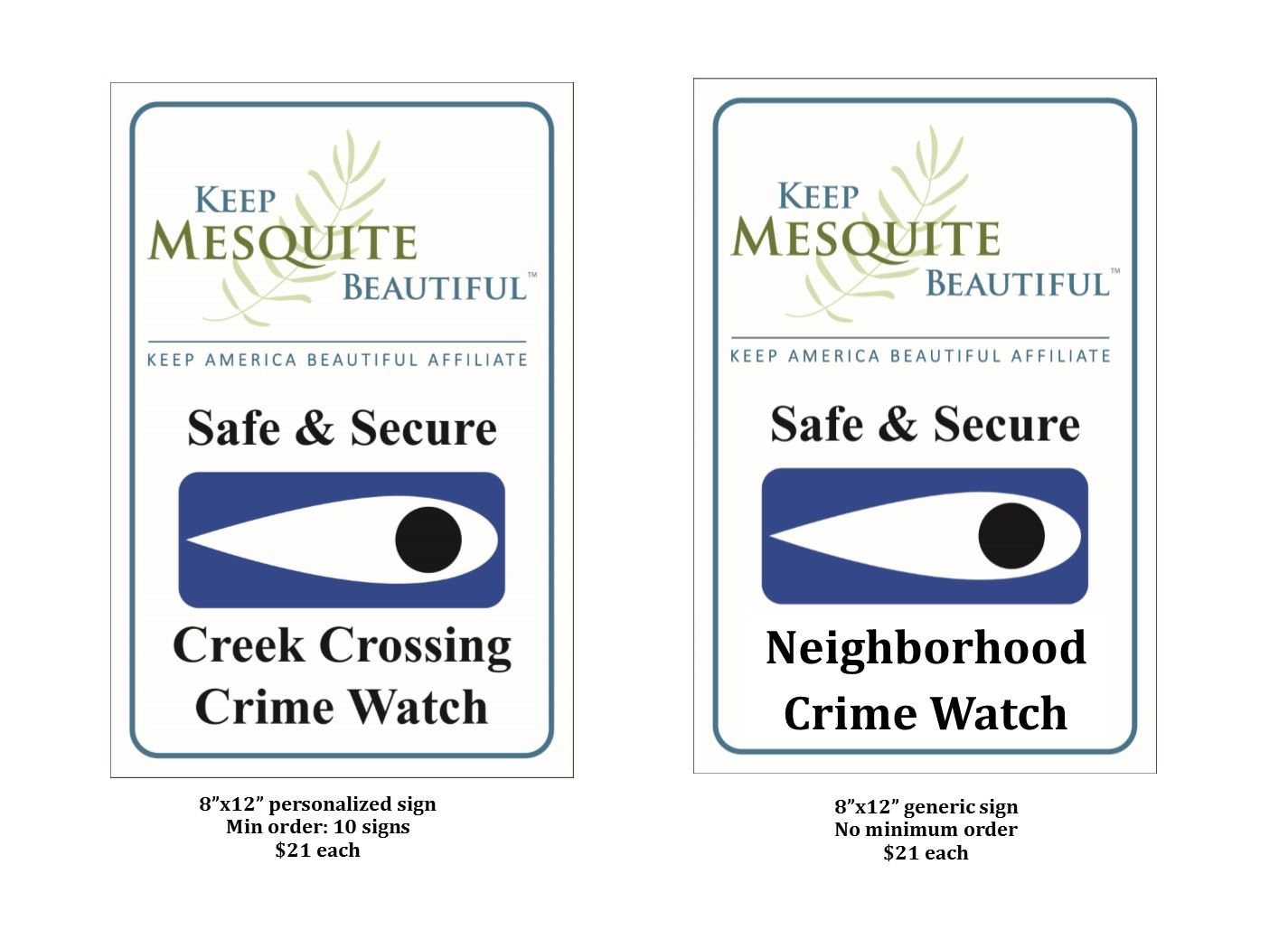 Safe & Secure Signs & Stickers