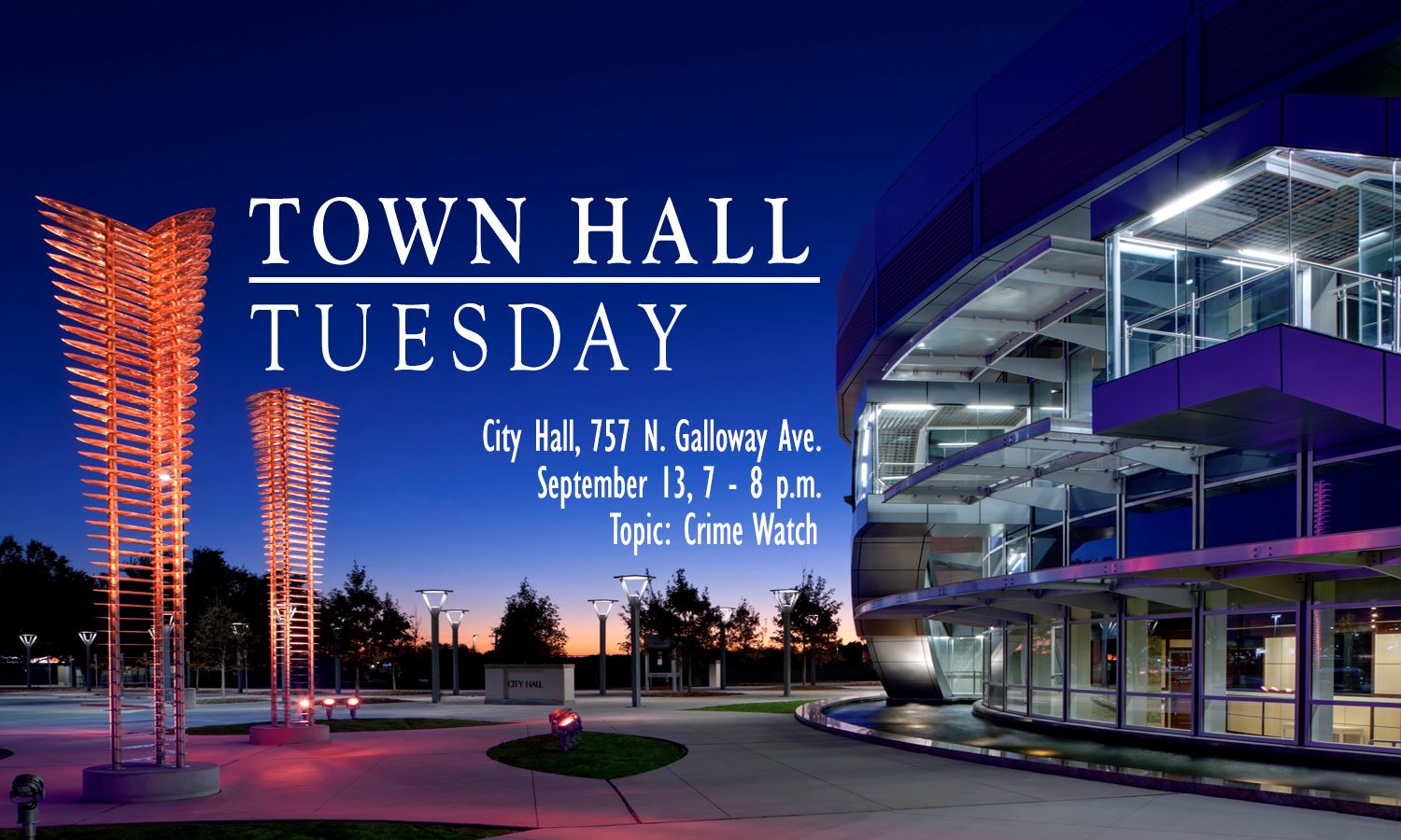 Town Hall Tuesdys - September 13th