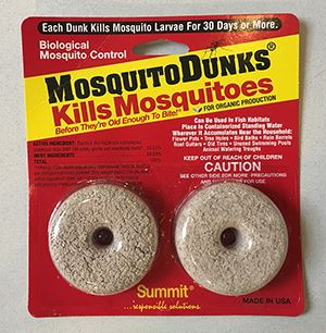 Mosquito Dunks, free, safety, West Nile