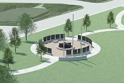 Rendering of Mesquite Veterans Memorial