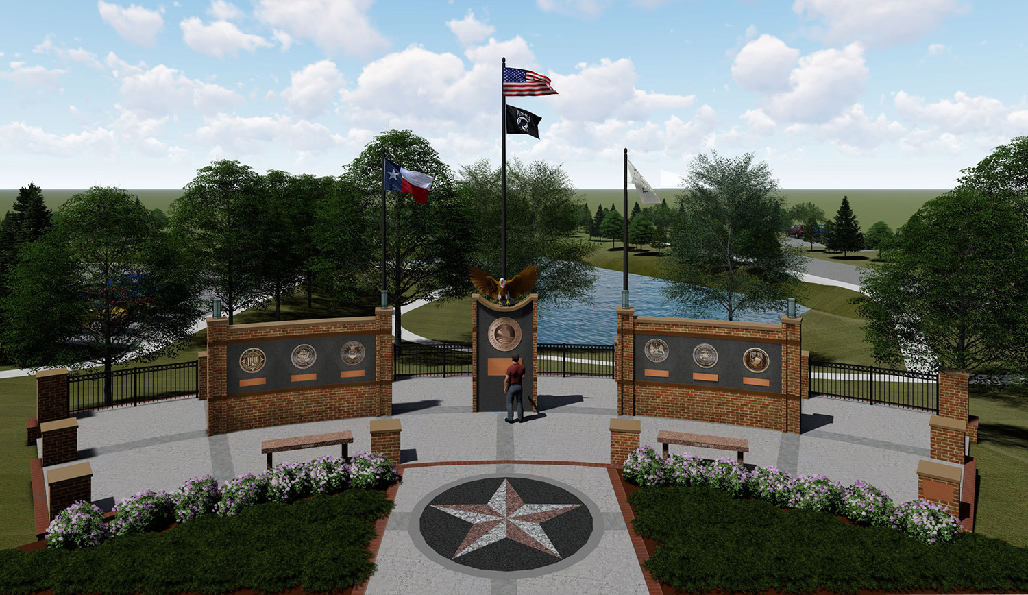 Mesquite Veterans Memorial - Plaza