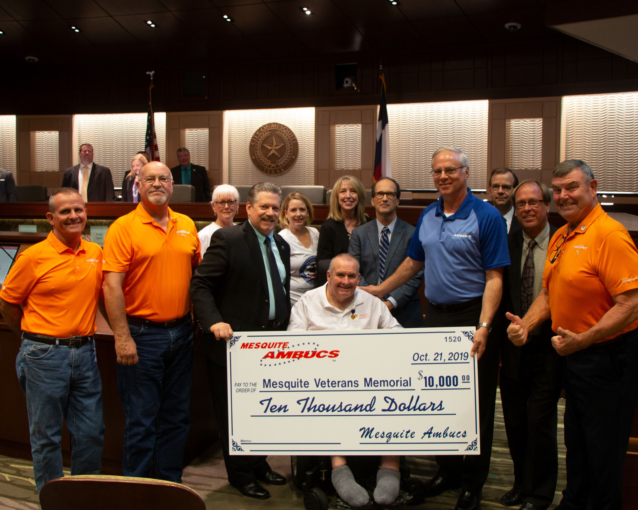AMBUCS Donation to Veterans Memorial