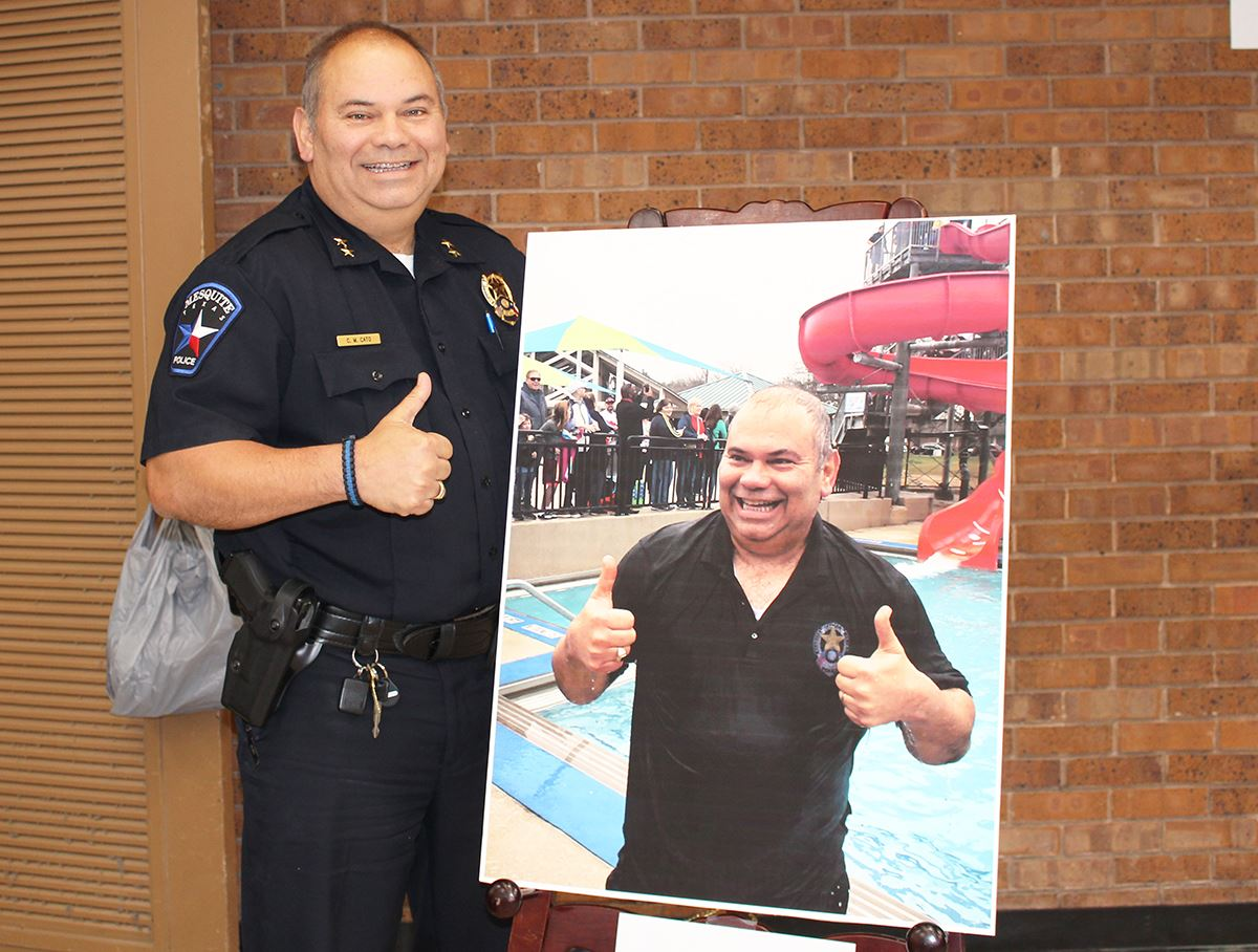 2019 City of Mesquite employee Real Texas Giving campaign - Photo Contest Winner - Police Chief Char