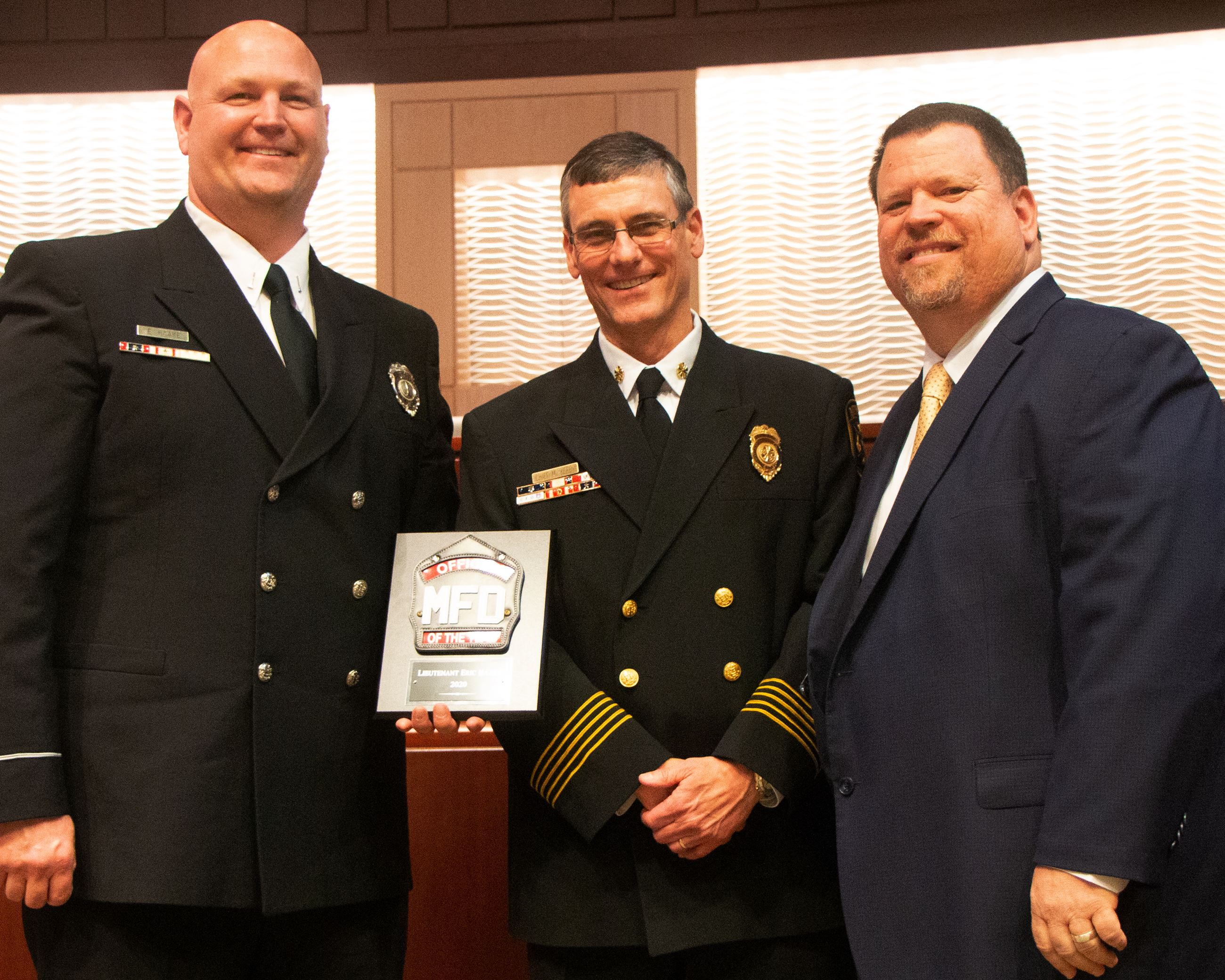 2020 Fire Officer of the Year - Lt Eric Haake