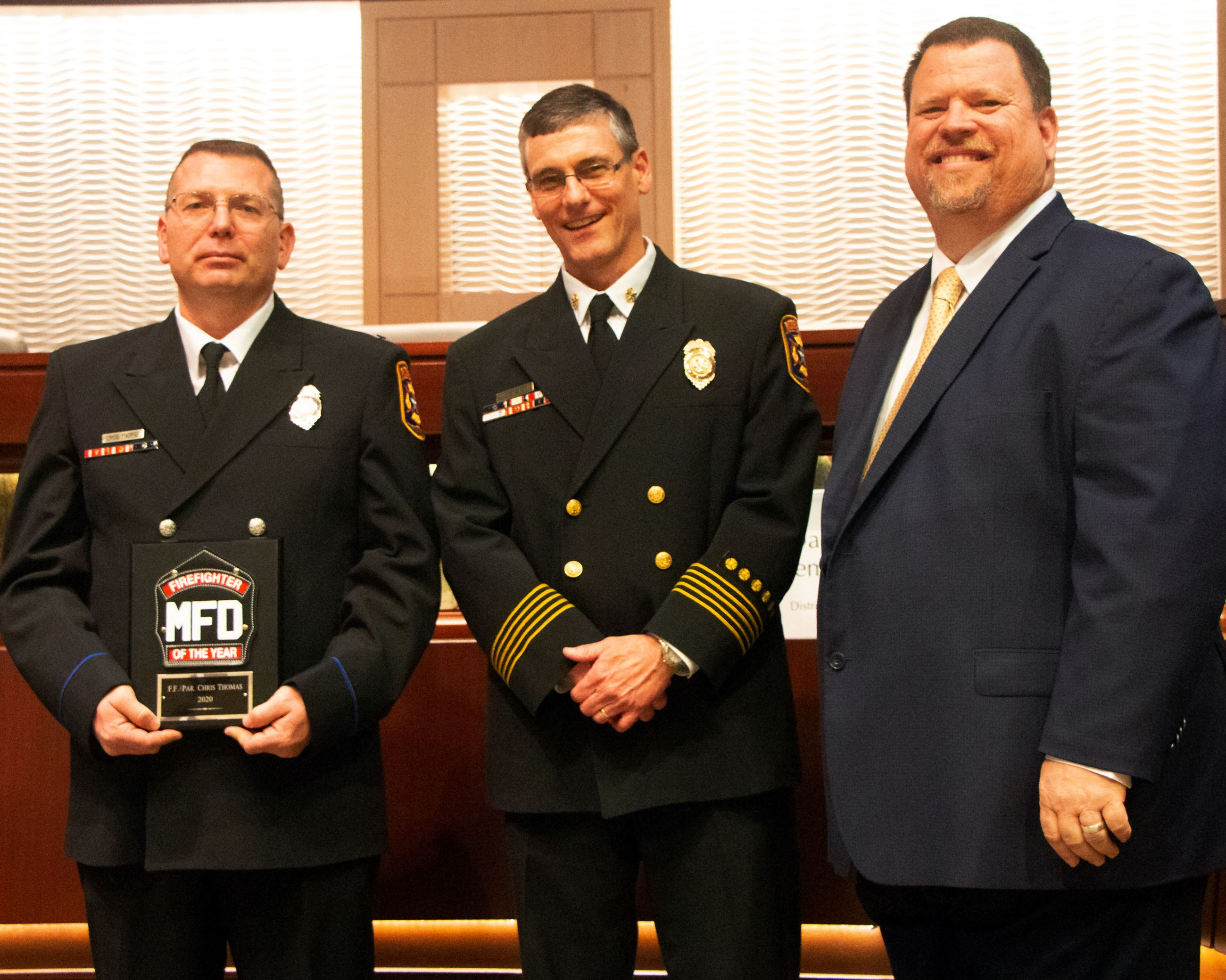 2020 Firefighter of the Year - Chris Thomas