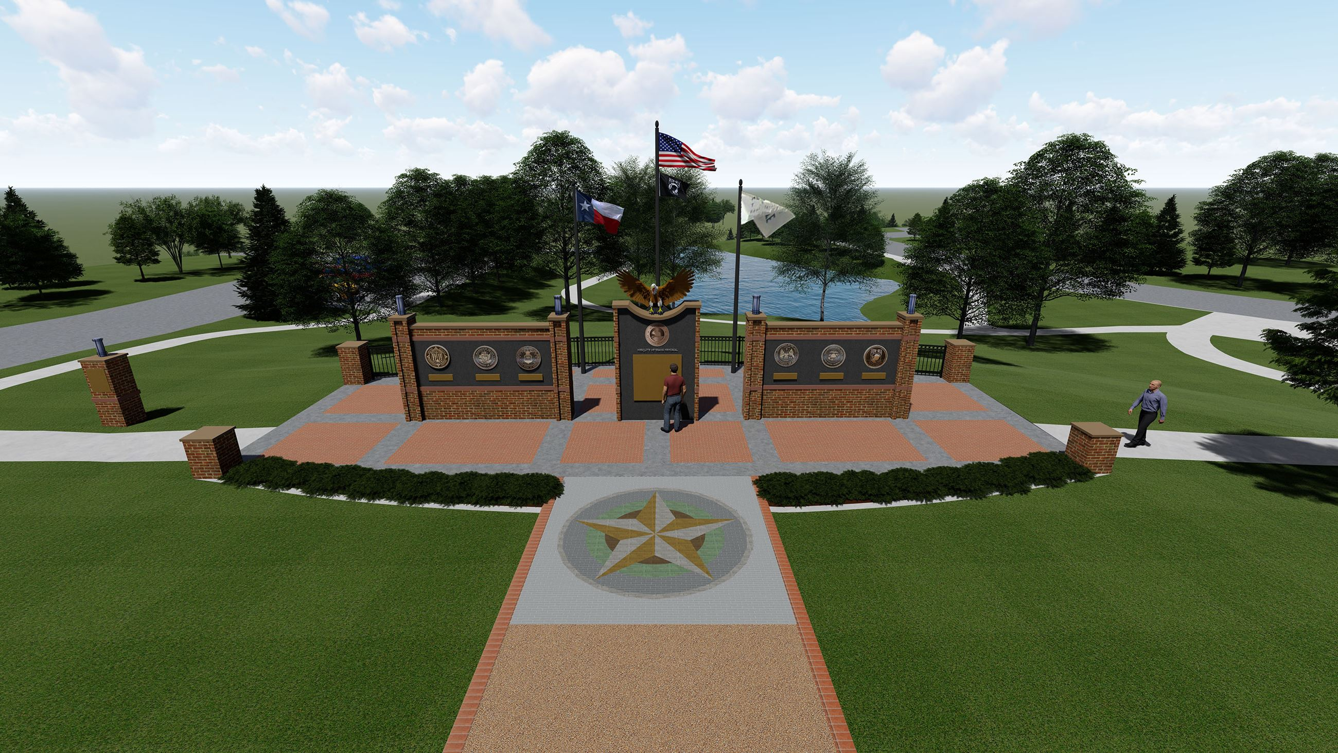 Mesquite Veterans Memorial rendering Birds Eye View 1-31-2020