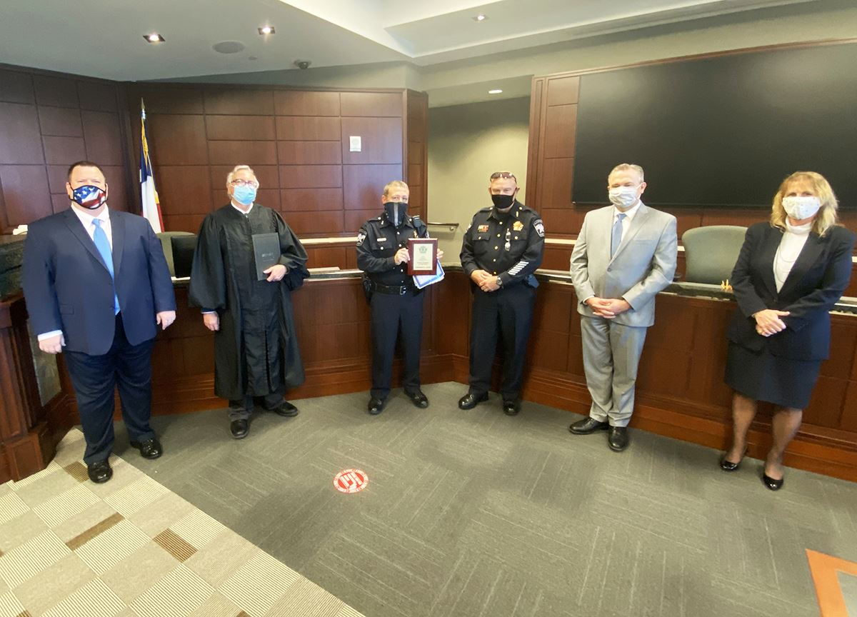 11-2-20 Lawrence Allen receives 2020 Deputy Marshal of the Year - Mesquite TX