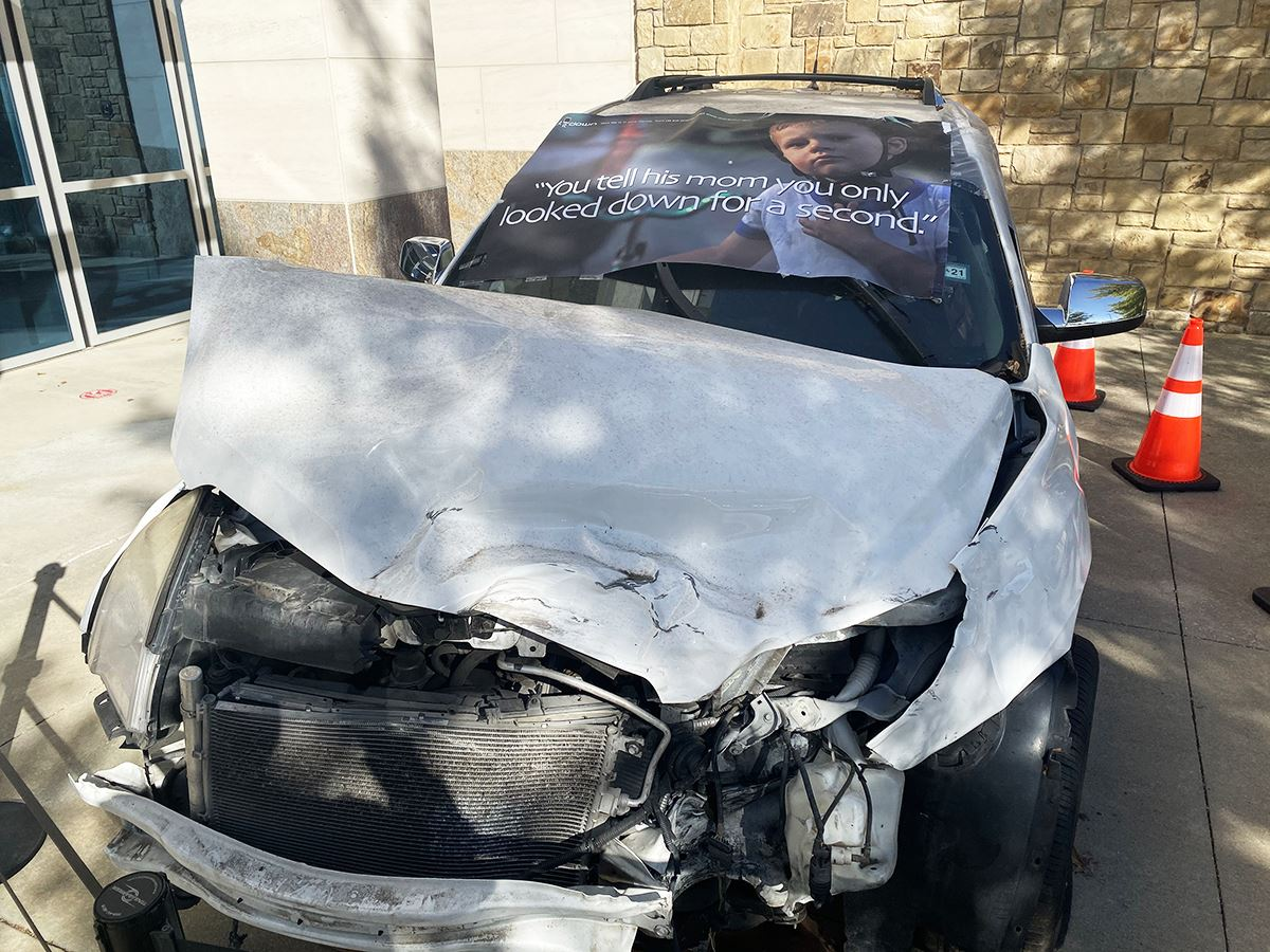 11-2-20 Traffic Safety Education - Crashed Vehicle Display - Municipal Court - Mesquite TX