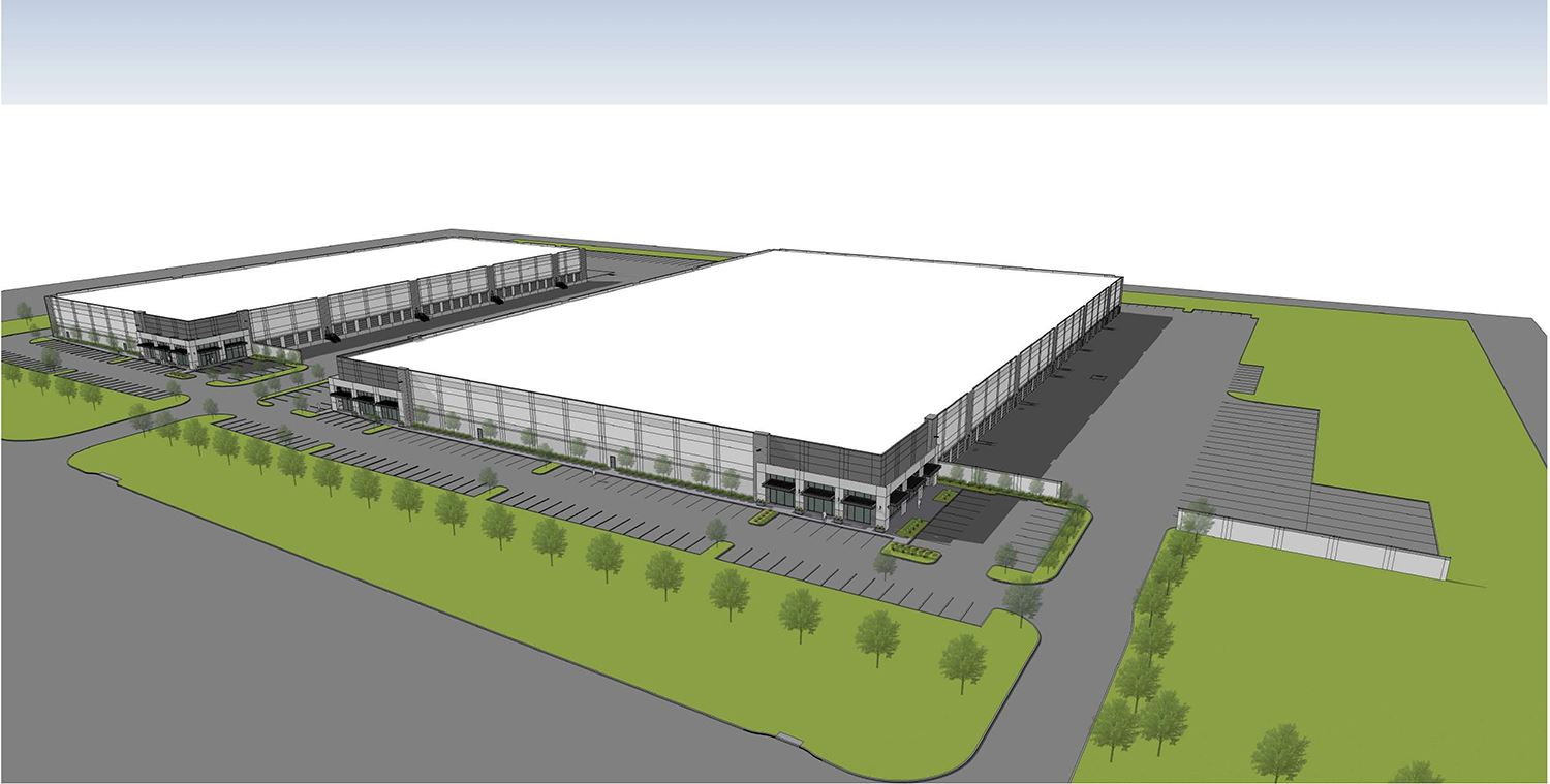 Proposed Huntington Industrial Partners commercial buildings - Mesquite TX