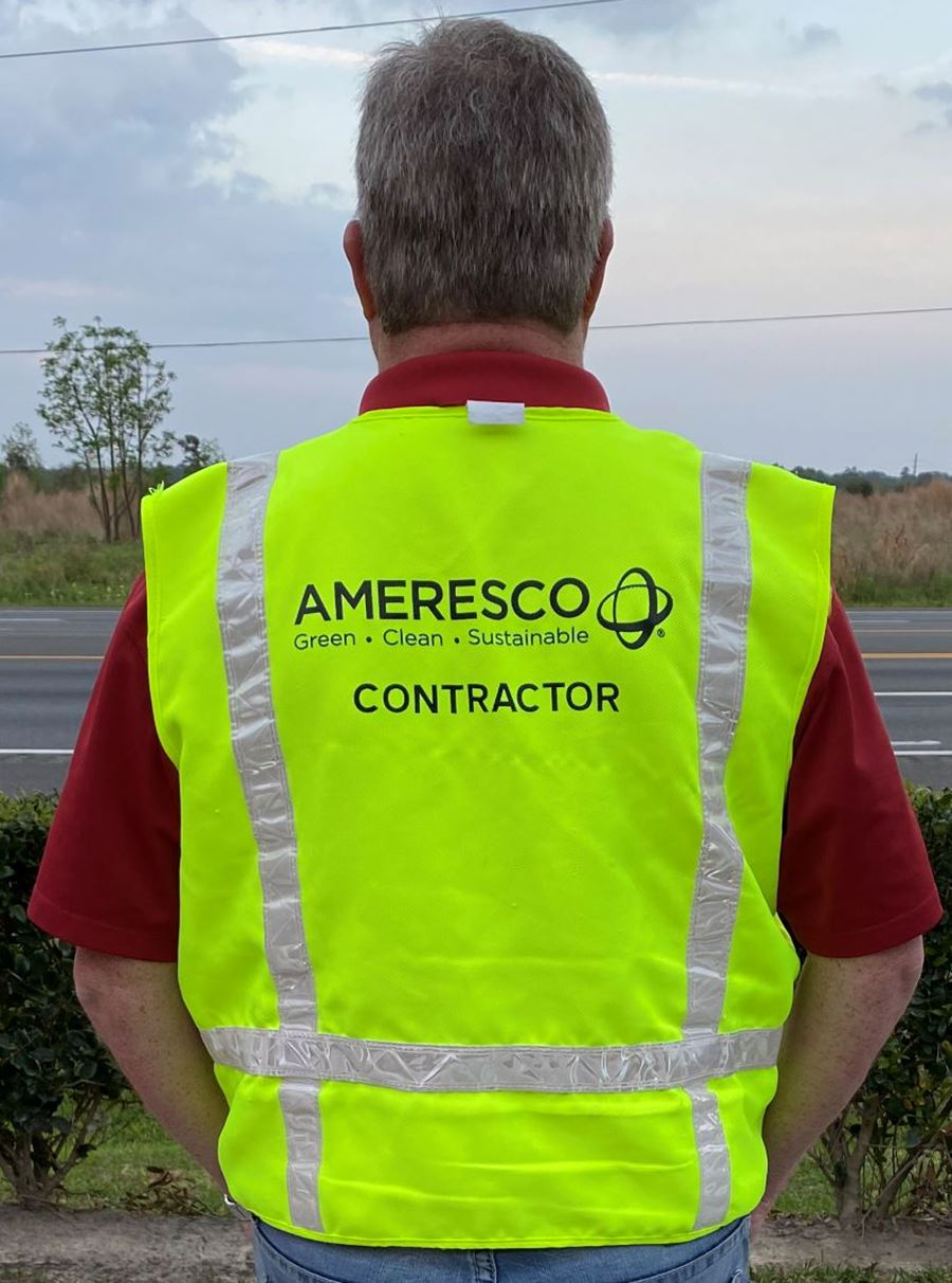Ameresco worker safety vest - Mesquite TX