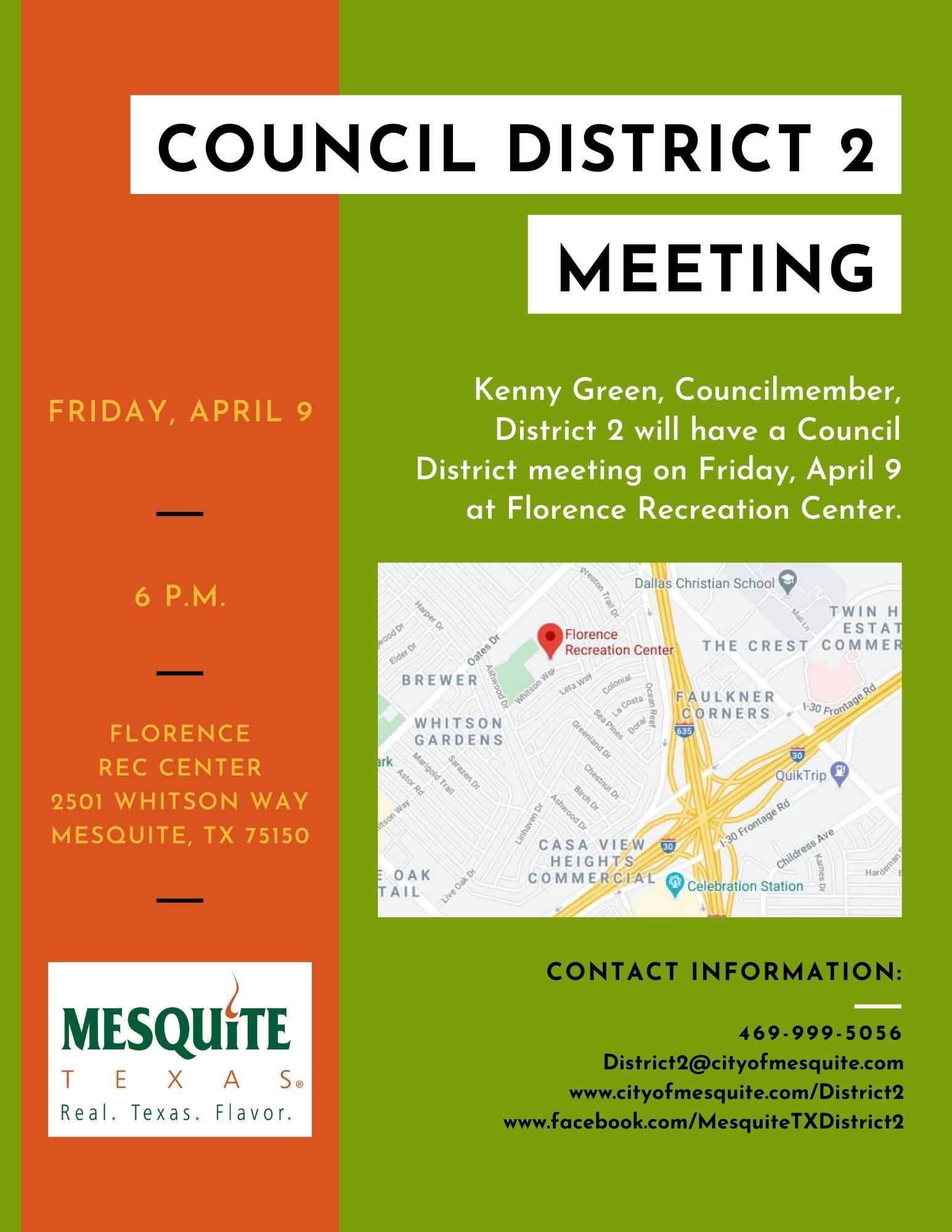 Kenny Green District 2 meeting flyer FINAL
