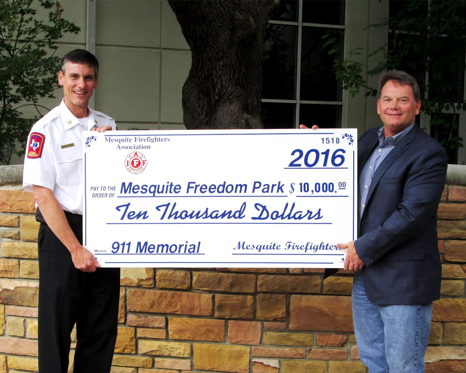 Mesquite Firefighters Association Local 1518 Donation