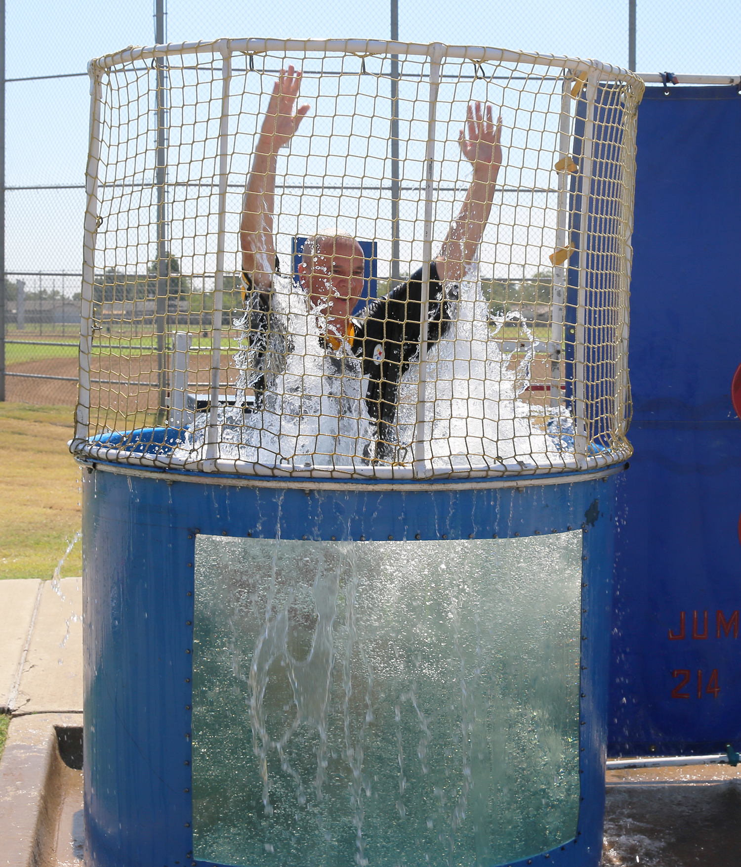 9-11-15 United Way Dunk Tank-Mesquite Asst City Mgr Jerry Dittman dunked.jpg