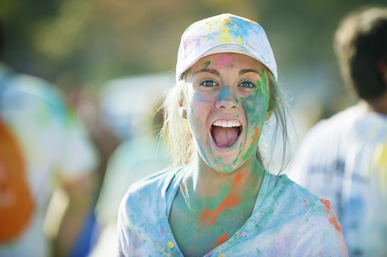 Technicolor fun run